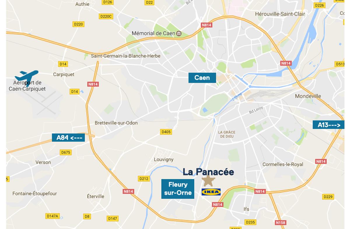 La Panacee Fleury-sur-Orne carte