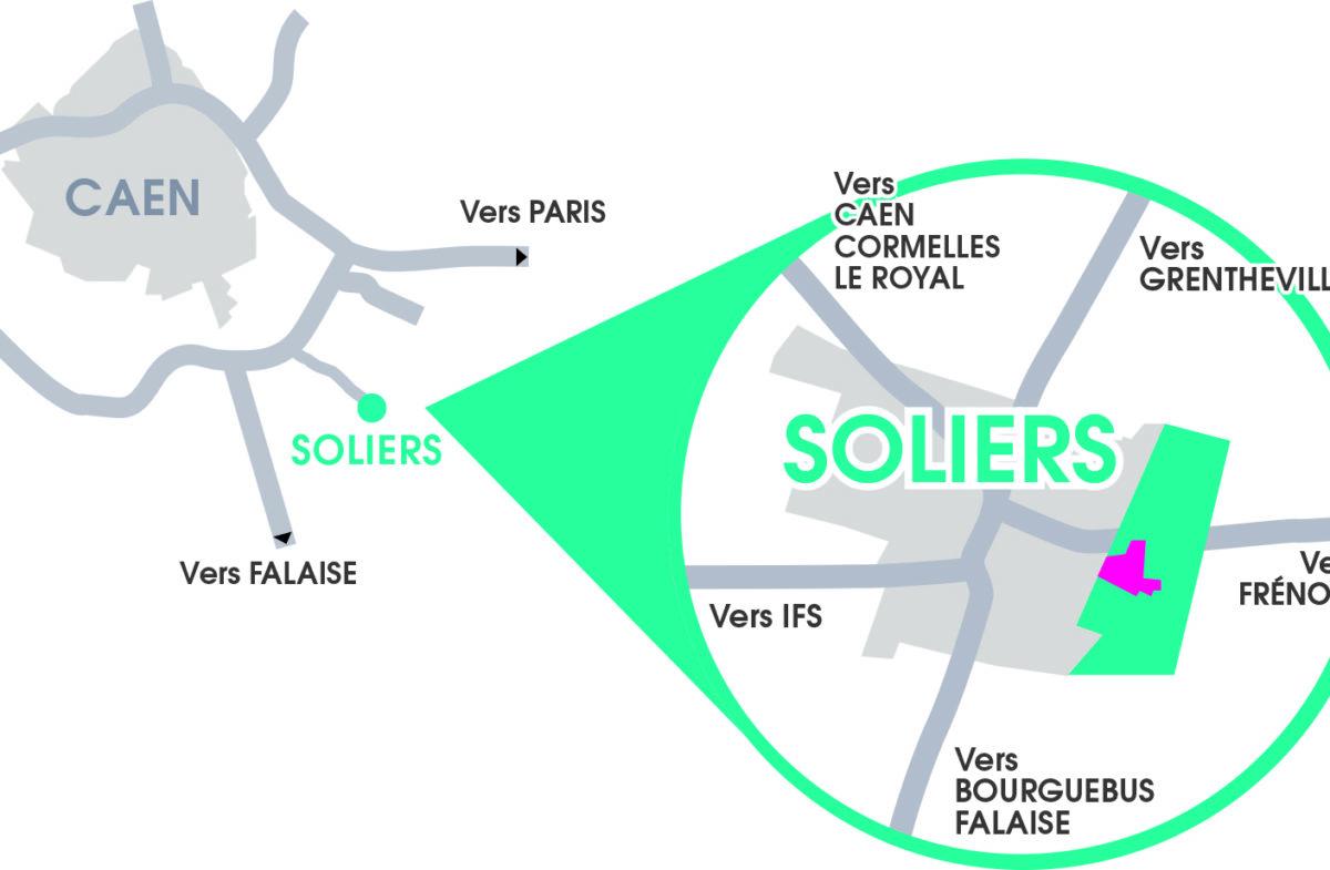 Soliers_terrains_a_vendre Normandie_Amenagement_proximité_Caen
