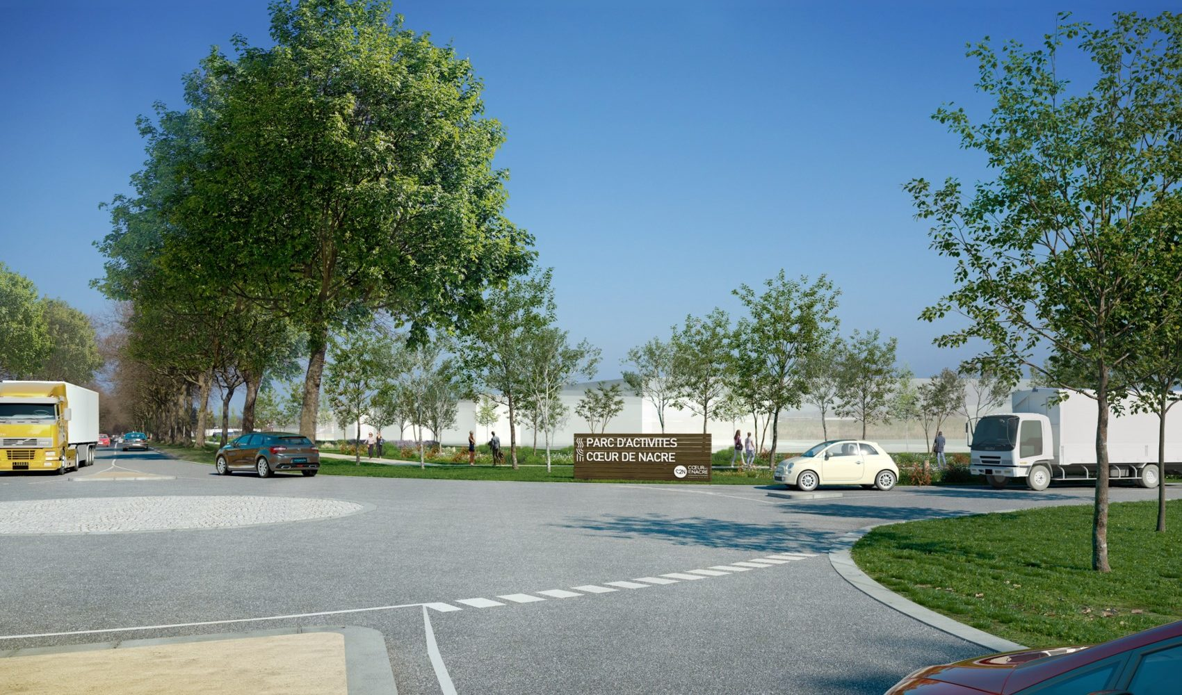 Perspective - futur parc d'activités Cœur de Nacre